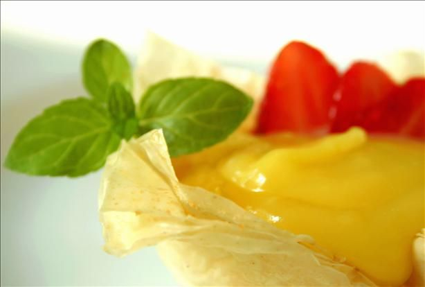 Strawberry and Lemon Curd Phyllo Baskets | Recipe