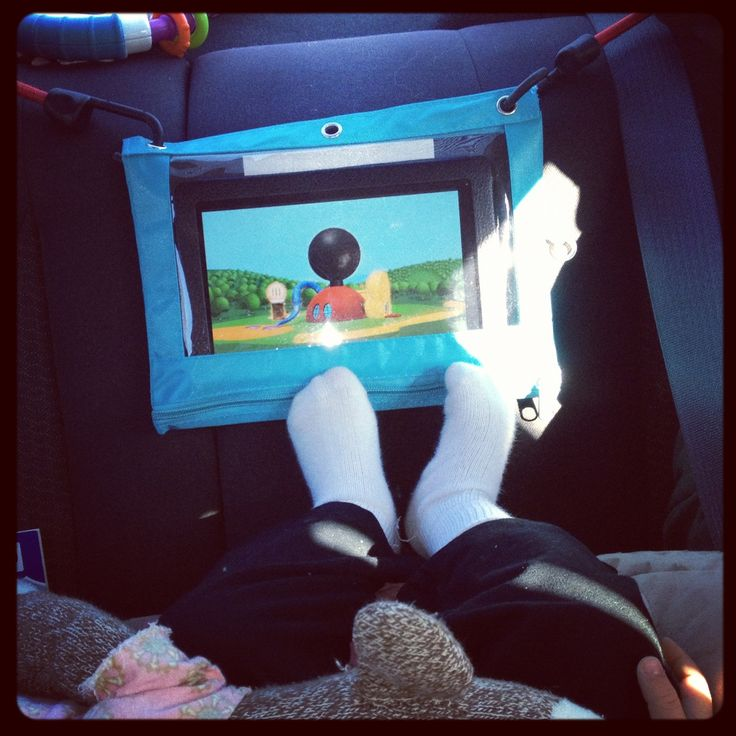 Make your own tablet car dock. .50 cent plastic pencil case and bungee cords. Large tablets will fit in heavy plastic document sleeves for a 3 ring binder. Touch screens still work through the plastic! Travel cheap Mamas!