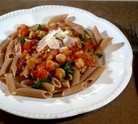 pasta with chickpeas | Meals | Pinterest