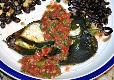 baked chile rellenos with corn and crema recipe yummly baked chile ...
