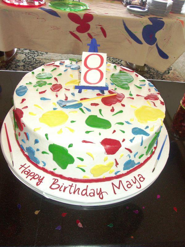 Art Themed Birthday Cake Birthday cake ideas Pinterest