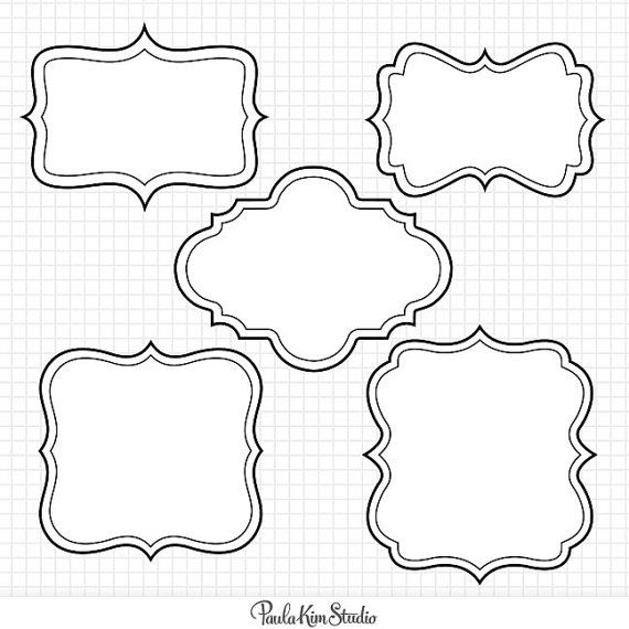 75 off SALE Frame Clipart Digital Borders by PaulaKimStudio, $1.00