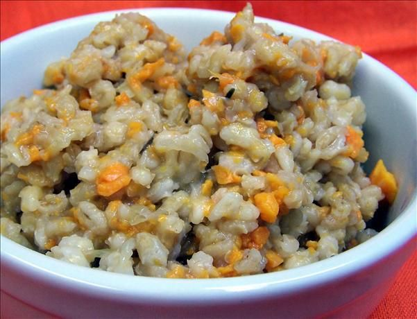 Sweet Potato Barley Risotto in the Crock Pot Recipe