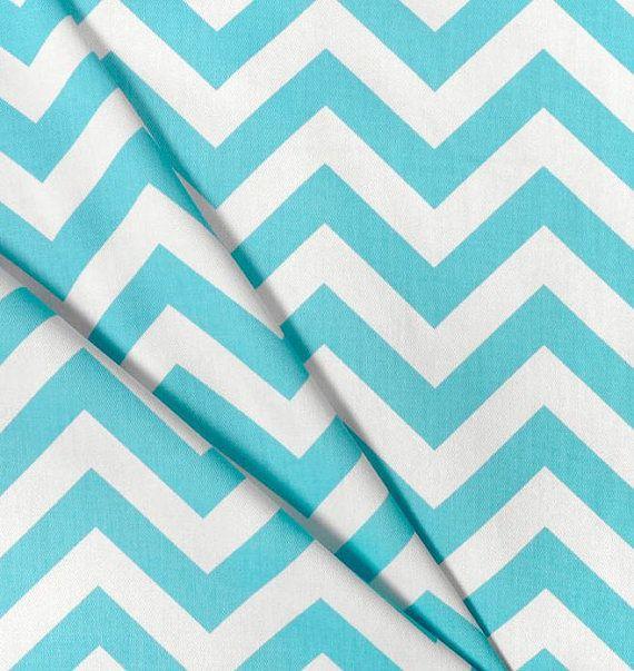 Chevron curtain panels pool aqua blue and white zig zag curtains drap