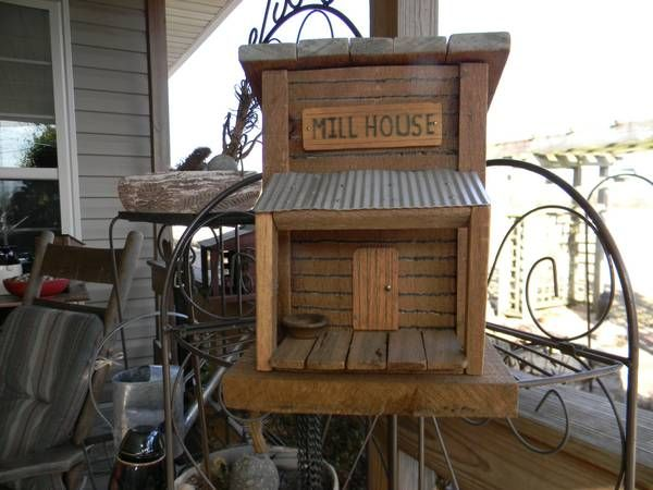 Old mill house from barn wood bird houses pinterest - Old barn wood bird houses ...