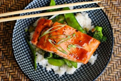 Honey Teriyaki Glazed Salmon with Stir-Fry Veggies | Tasty Kitchen: A ...