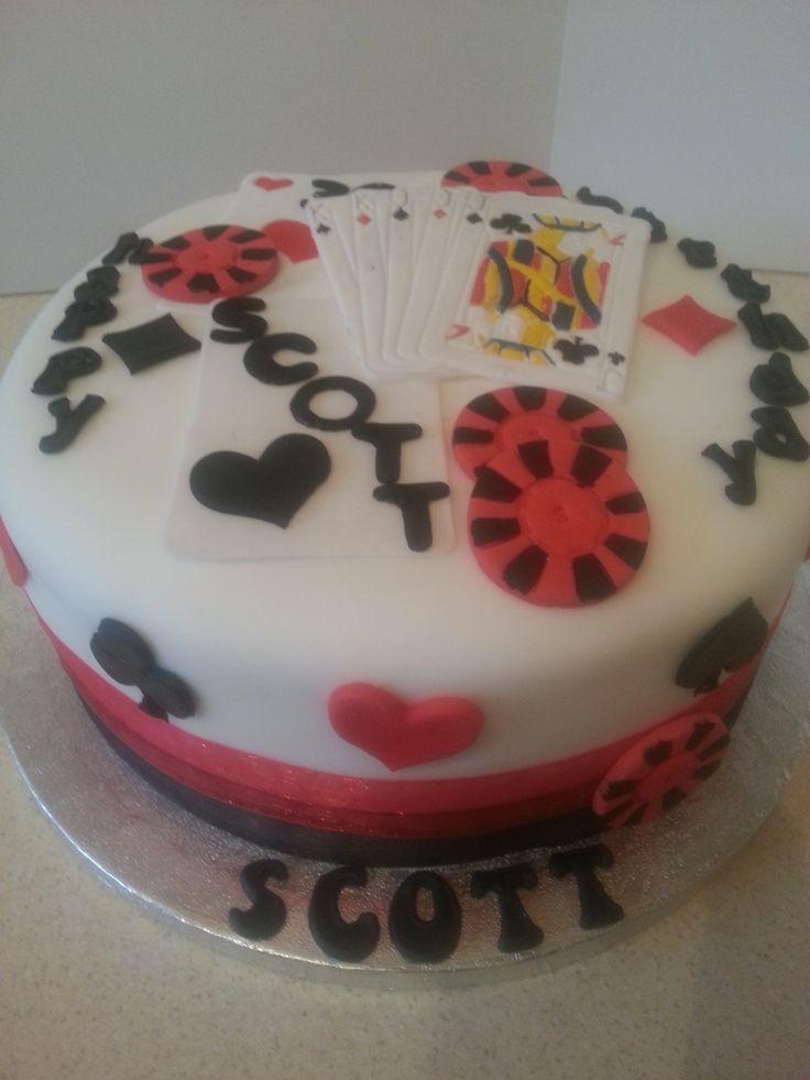 birthday cakes poker theme