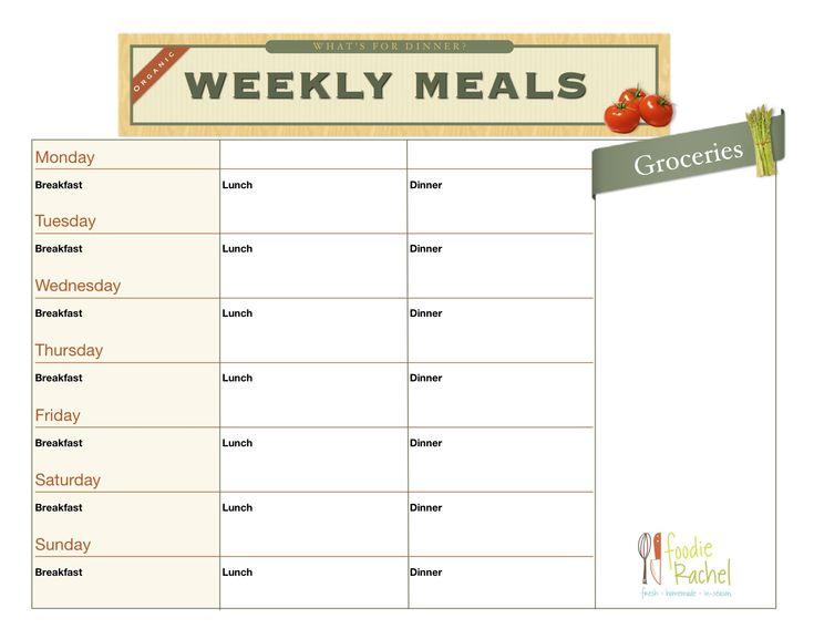 Meal planning organizer meal planning pinterest for Plan organizer
