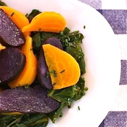 Colorful Purple Potato and Golden Beet Salad offers a hearty first ...