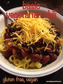 Basic Vegetarian/Vegan Chili | Vegetarian/Vegan | Pinterest