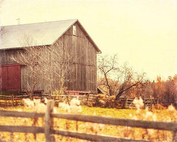 Barn Landscape Photography Autumn Colors Rustic Home