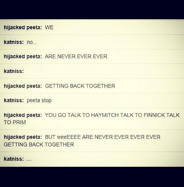 Peeta meets Taylor Swift!