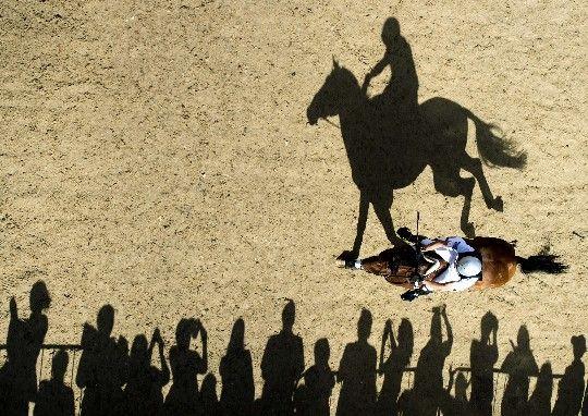 Prueba de Hípica en los Juegos Olímpicos de Londres 2012 (foto: Adrian Dennis/Afp)
