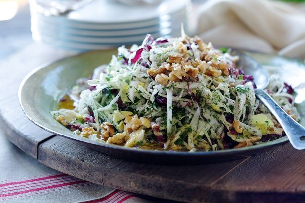 Fennel, Radicchio and Endive Salad *nix the parmesan and use asiago or ...