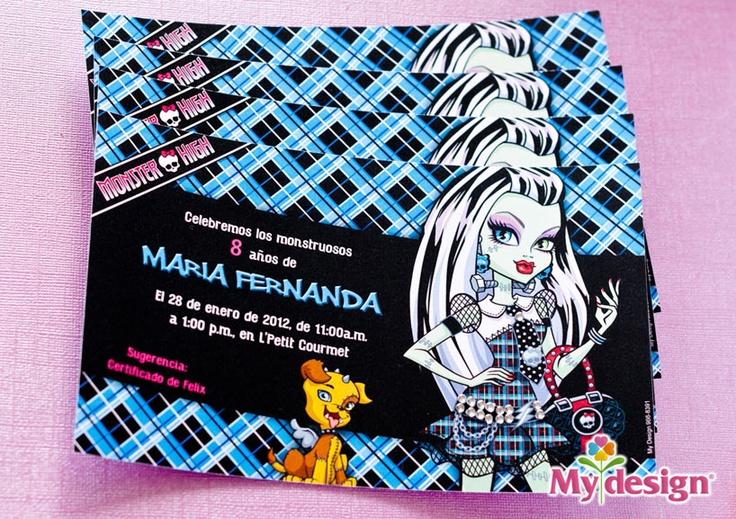 Tarjetas de cumpleaños | Motivo de Monster High | María Fernanda | cumpleano  | tarjetas de cumpleaño monster high cumpleaño