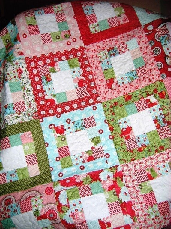 Easy Quilt Patterns For Jelly Rolls : Market Square QUILT PATTERN.... Easy...one JELLY ROLL ...PDF available. USD 9.00, via Etsy.