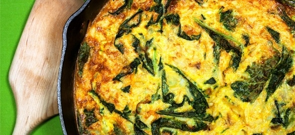 Potato and Kale fritatta | Veggies and Vegetarian | Pinterest