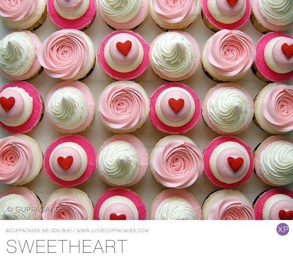 Sweetheart cupcakes. | cupcakes / biscuits / cakes pops | Pinterest