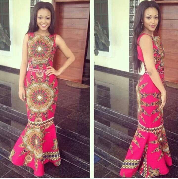 Beautiful fuchsia african dress african clothes pinterest