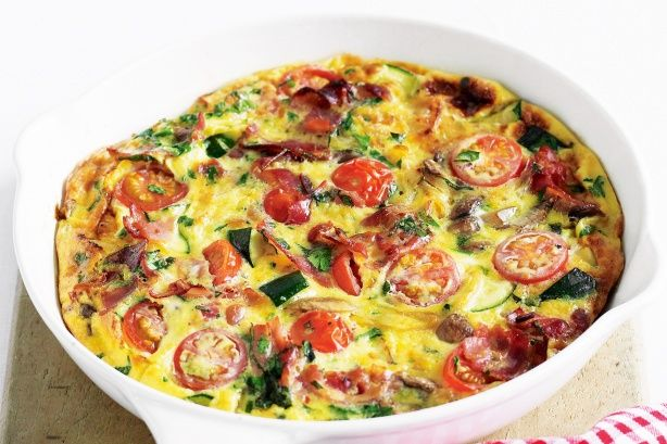 Tomato, mushroom and basil frittata | Eat, drink and be happy! | Pint ...