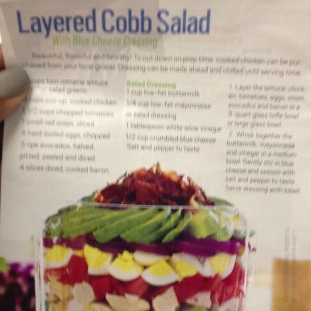 Layered Cobb Salad! | Salads | Pinterest