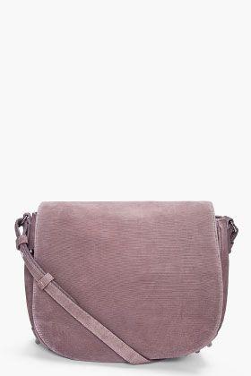 ALEXANDER WANG LIA Grey Velvet Messenger Bag