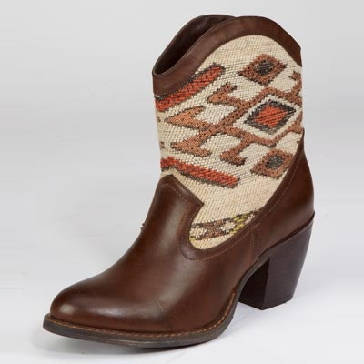 Introducing the Wanted Tejas Boot. A Santa Fe inspired cowboy bootie ...