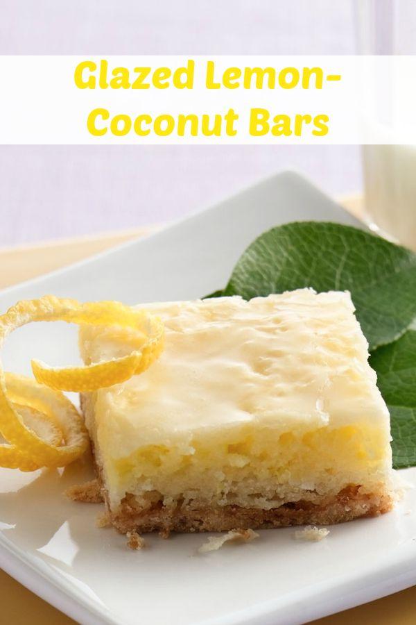 Glazed Lemon-Coconut Bars | Recipe