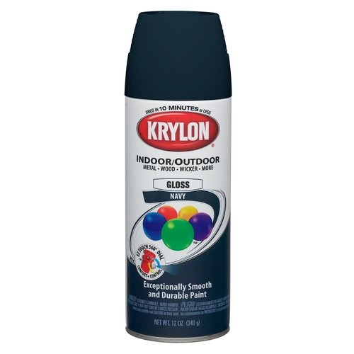 krylon indoor outdoor spray paint navy blue liberal wal mart see if. Black Bedroom Furniture Sets. Home Design Ideas