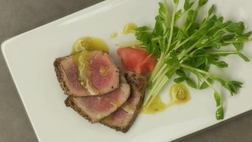 Ahi Tuna with Wasabi-Lime Vinaigrette Recipe Text | Rouxbe Cooking ...