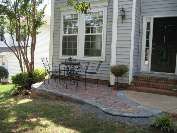 Front patio for the home pinterest for Front deck designs for houses