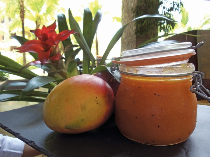 Mango jam w/ginger and vanilla - made fresh at Four Seasons Costa Rica ...