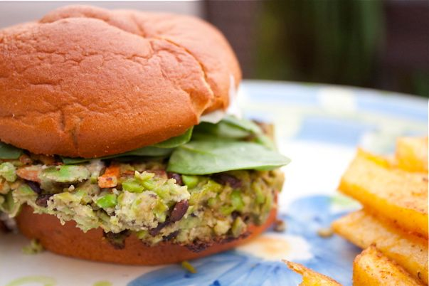 edamame burger...no other beans | Food | Pinterest