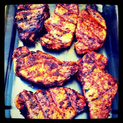 ... Designs: Awesome Grilled Pork Chops with Adobo Paste Rub