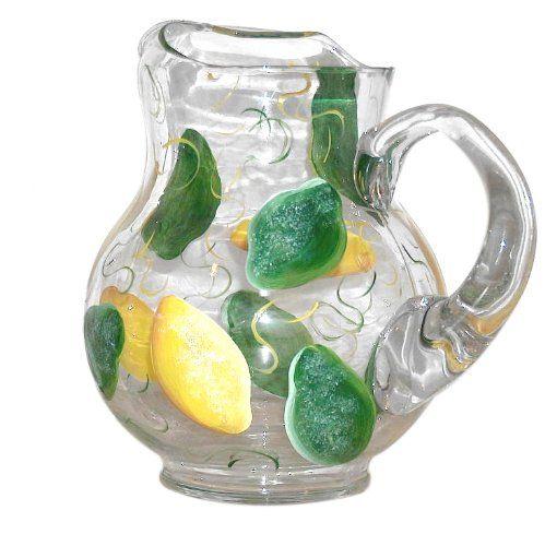 Lemon Kitchen Decor  artisanstreet s lemon lime pot belly pitcher