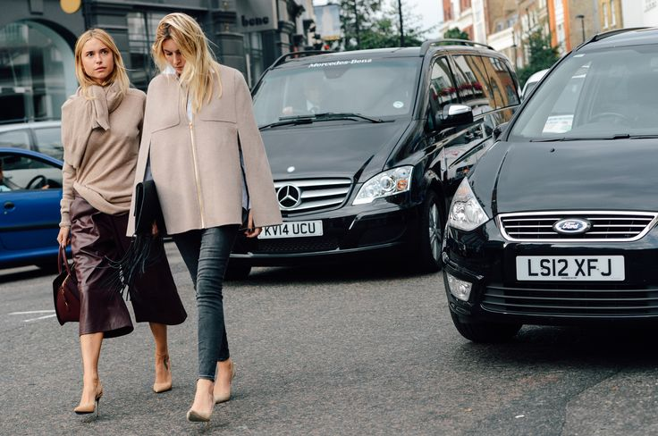 here comes trouble ;) Camille & Pernille looking brilliant in London. #CamilleOverTheRainbow #LookDePernille