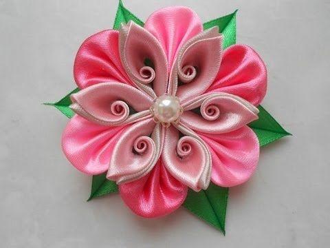 Цветы из атласных лент своими руками мастер класс для начинающих канзаши 54