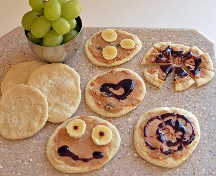 ... and jelly pizzas using mini pizza rounds (or even leftover pancakes