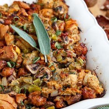 Italian Sausage, Mushroom and Chestnut Stuffing - Make it gluten free ...
