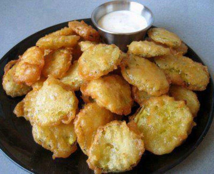 Deep fried pickle chips   meals   Pinterest