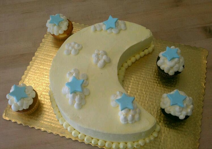 Moon Baby Shower Cake @ Sweeter Days Bake Shop - Fort Lauderdale, FL