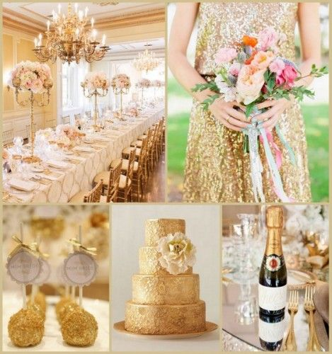9 most popular wedding theme ideas hotref party gifts gold wedding ideas from hotref junglespirit Images