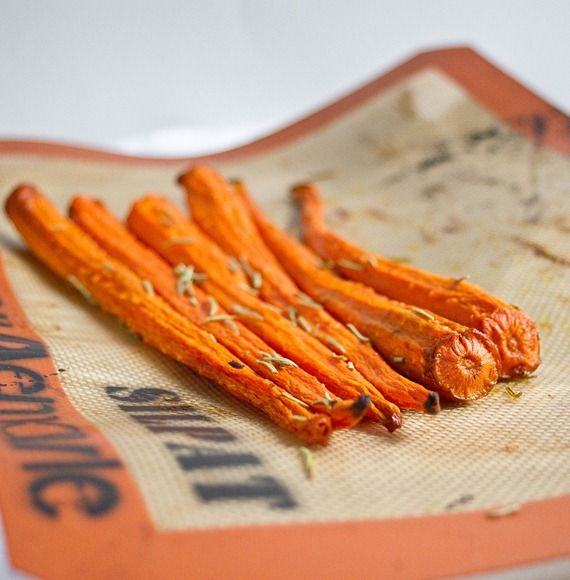 "roasted vanilla rosemary carrots"" (Something I may have to try out.)"