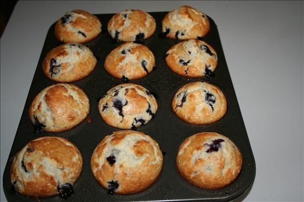 Blueberry Buttermilk Muffins from Food.com: Wonderful breakfast treat ...