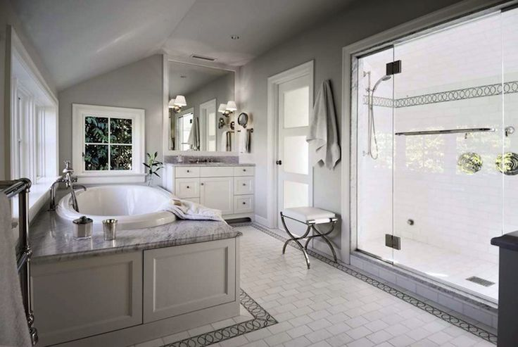 white and gray bathroom master bathroom pinterest