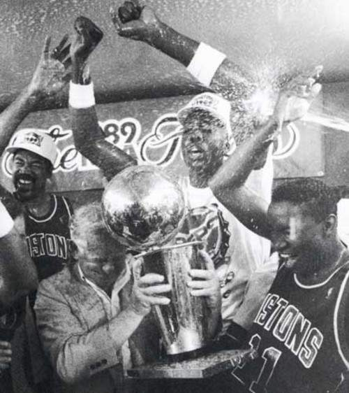 89 Pistons World Champs with Buddah, Spider, Mr. D and Zeke!