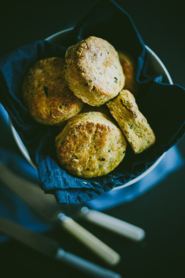 Pumpkin, Feta and Chive Scones Recipe (Souvlaki For The Soul)