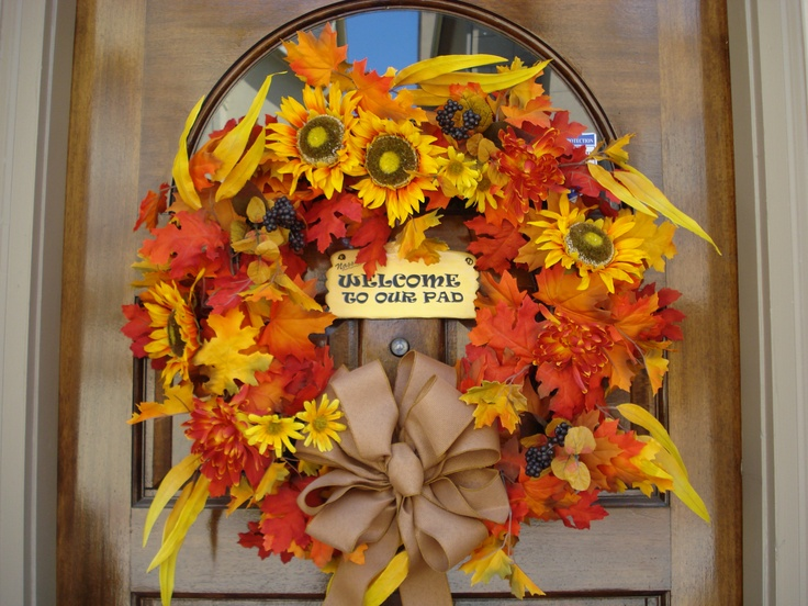 Fall wreath from michael s crafts pinterest