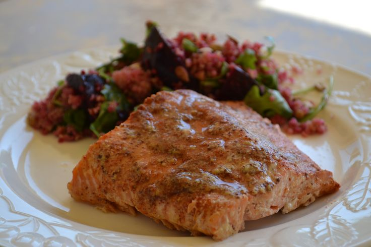 Maple Dijon Salmon- made it under 20 minutes and simply delicious.