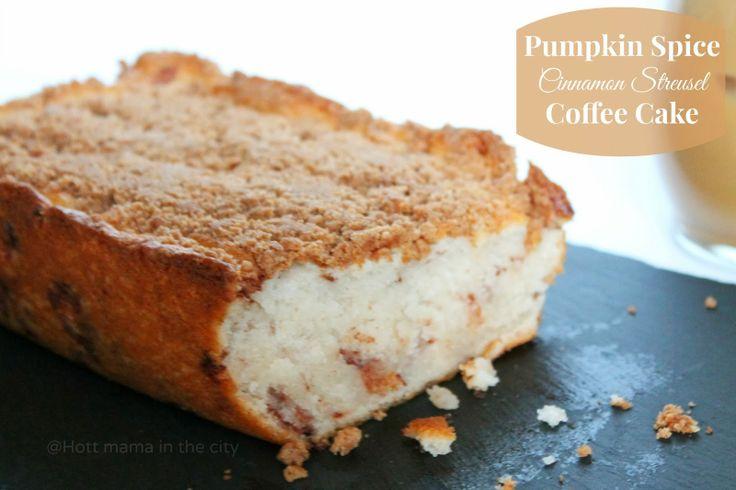 Pumpkin Spice Cinnamon Streusel Coffee Cake with Pumkin Spice Coffee